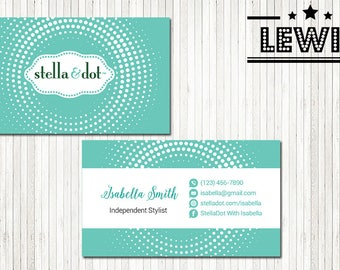 PERSONALIZED Stella and Dot Business Card, Custom Stella and Dot Business Card, Custom Stella and Dot, Printable Business Card SD01
