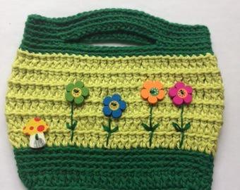 Summer Flowers Crochet Handbag