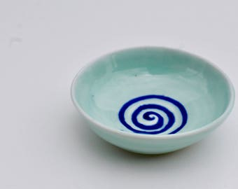 Small blue ring bowl