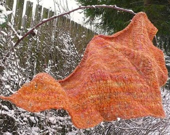 Automn in Mountains - Woolen shawles, Woolen fashion, Handspun, Hand dyed, Hand knitted shawles, Spinning