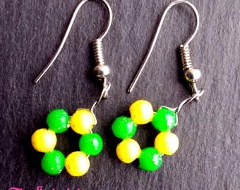 Super cute flower handmade earrings (various colours)