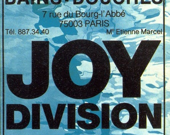 Joy Division concert poster