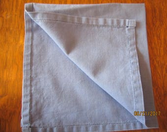 Linen denim blue square napkin or table covering
