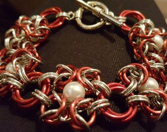 Beaded Romanov Chainmaille Bracelet
