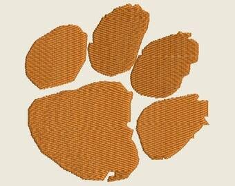 Clemson Tiger Paw Logo machine embroidery design