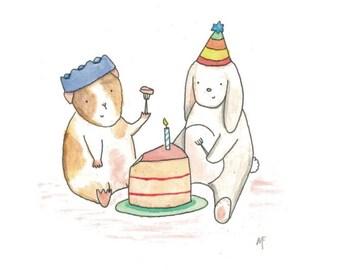 Greetings Card- 'Tea Party'