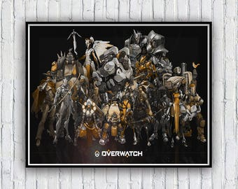 Overwatch Poster, Overwatch Poster Print, Available in 4 sizes