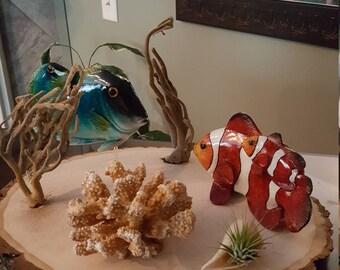 Wood Slab Aquarium Table Piece