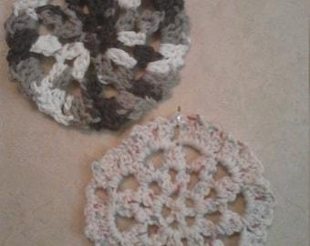 set of 4 handmade crochet coaster set