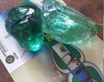 GREEN GLASS SLAG