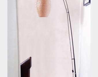 COCOON lamp braided bamboo - adjustable height 205 cm or 220 cm - lamp shade - H 43 cm x 28 cm Ø