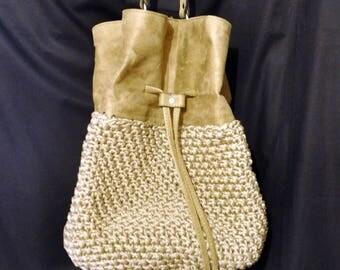 Suede royal shoulder bag