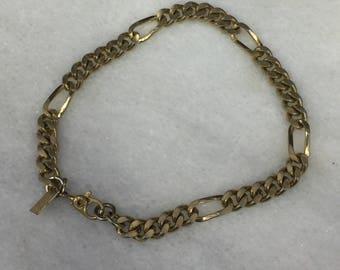 Vintage Monet Gold Tone Chain Link Bracelet