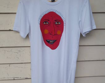 Abstract Face Hand Painted Tee