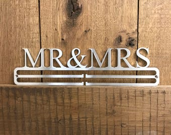Medal Hanger Display 'Mr & Mrs' Stainless Steel 2.0