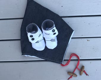 Booties and Bonnet Combo- Size 0-3 Months