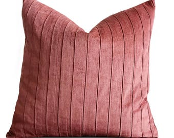 "22"" x 22"" Blush Pink Velvet Pillow Cover - Eastern Accents Velvet Pillow Cover"