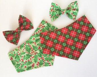 Christmas | Mistletoe | Plaid | Dog and Cat | Bow Tie | Bandana
