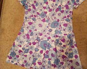 Girls Original//Retro 1960s// flower power vintage dress