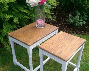 Nest of vintage tables, truffle
