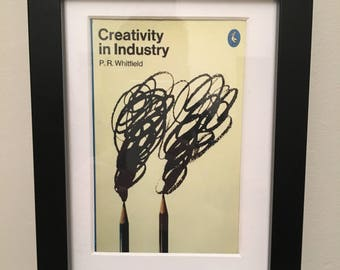Classic Penguin Book cover print- framed - Creativity In Industry
