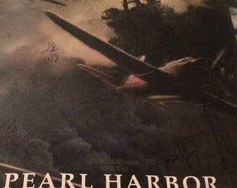 Pearl Harbor Cast Signed movie poster with coa