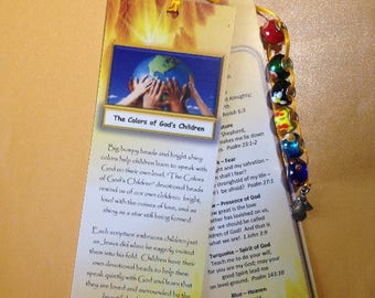 Bookmark - The Colors of God's Children Devotional Beads (c)