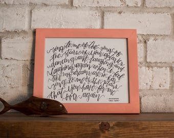 Sing to Me of the Song // Switchfoot // Hand-lettered Digital Print // Printable