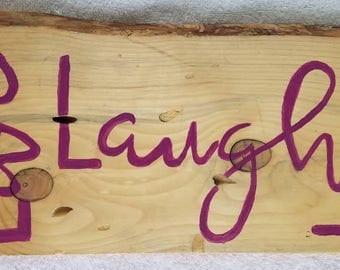 Wooden Sign Live, Laugh, Love Repurposed Materials