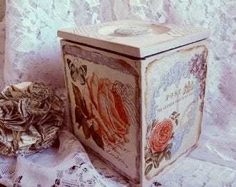 """Wooden box """"name of the rose"""""""