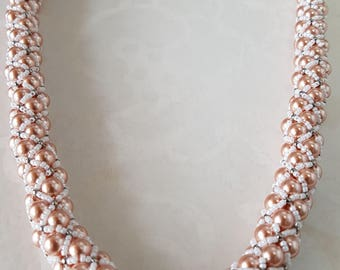 BeadsBeautifulBeadsBeads-Pearls-Swarovski-Necklace-Wedding-Evening-Handmade-Seed Beads-Toggles-Mother of the Bride-Elegant-Made in Argyll