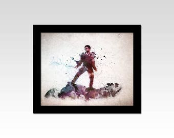 Harry Potter inspired Harry watercolour effect print
