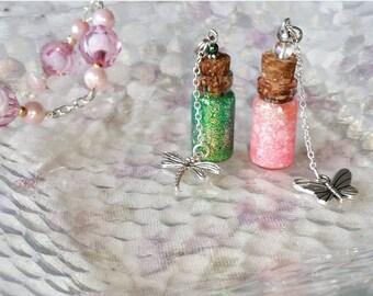Fairy Tears Bottle Charm Necklace