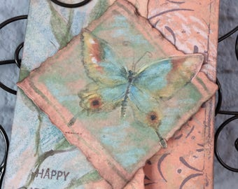 Beautiful Butterfly, Happy Birthday, Inspired by nature card.