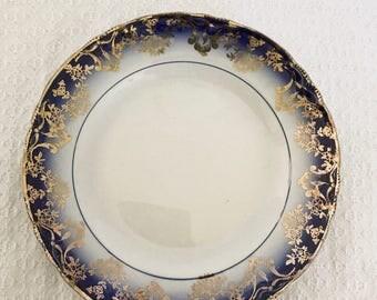 Vintage Sterling China Flow Blue Dinner Plate