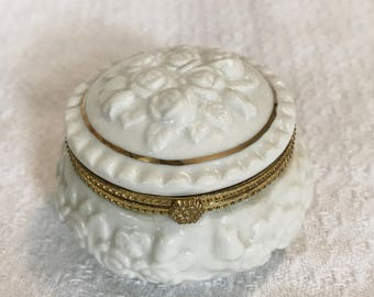 White Rose Trinket Box