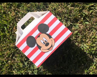 Mickey Mouse party favors, Mickey Mouse goodie bags, Mickey Mouse birthday party, gable boxes, Mickey Mouse party, set of 12