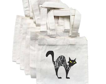 Halloween Party Favor Bags, Black Cat Bags, Party Favor Bags, Cotton Party Bags, Halloween Party Decor, Halloween Party, Halloween Bags