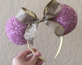 SALE! Sleeping Beauty Inspired Minnie Ears! -Aurora Inspired Minnie Ears! - Royal Pink Minnie Ears!