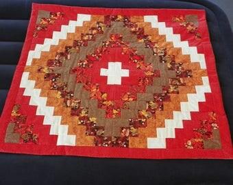 Autumn Leaves Patchwork lap quilt