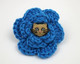 Don't Take It Purr-sonal Crochet Flower Accessory