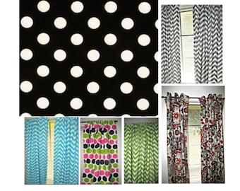 Polka Dots Modern Window Treatments,kitchen curtains,bedroom curtains,home decor,nursery decor,custom curtains,window valance,michael miller