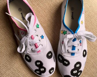 Custom Painted Canvas Shoes *Soot Sprite Themed*
