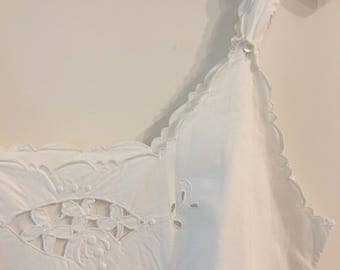 Victorian White Curved Dress