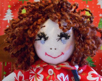 Handmade Red Headed Rag Doll