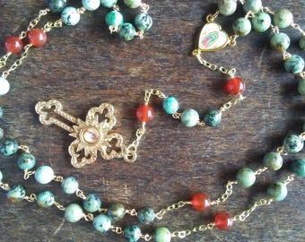 The Our Lady of Guadalupe Turquoise Rosary