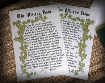 Wiccan Rede Parchment Book of Shadows pages