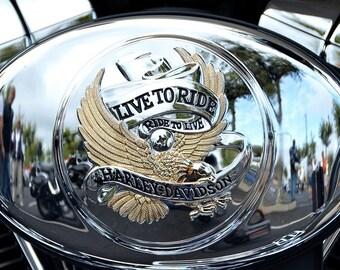Beautiful Harley engine minimalist photo chrome.