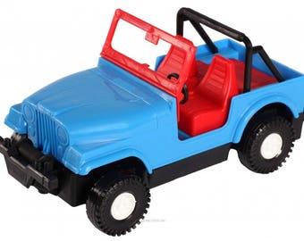 Toy car Auto-Jeep - Gift for Children, Kids, Teens, Boys - Unique Handmade Design