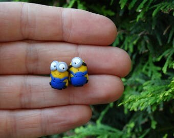 Minions earrings,Studs,Polimer clay studs,kids studs,Minions studs,Minions polimer studs,